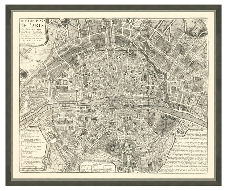 Map of Paris II