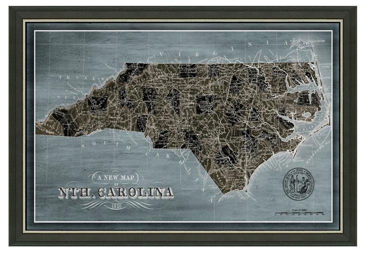 North Carolina Denim Map