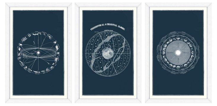 Triptych Celestial Framed Prints