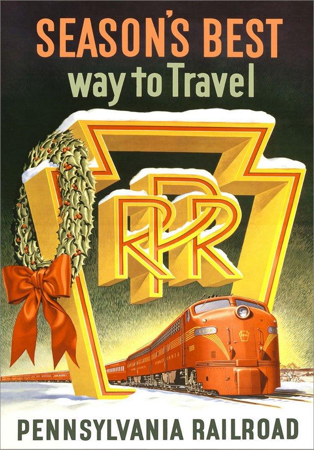 Pennsylvania Railroad Travel Poster