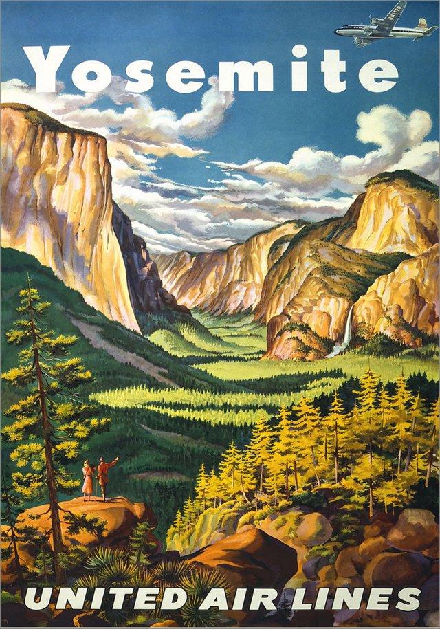Yosemite Framed Travel Poster