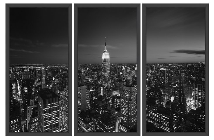 New York Times, City Lights Triptych
