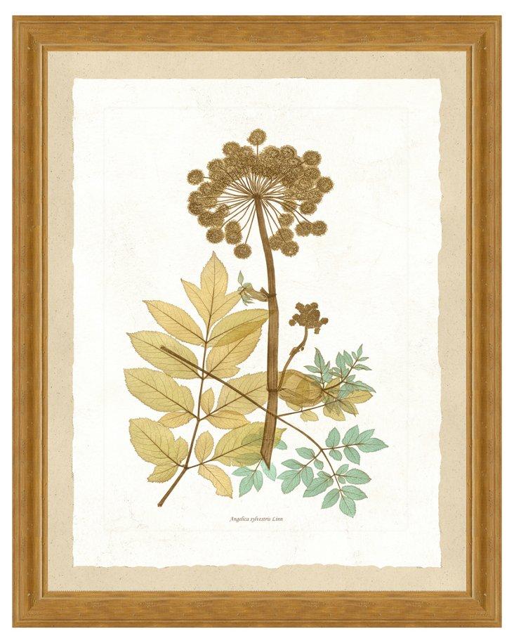 Teal Nature Print I