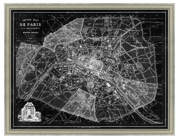 Inverted Paris Map