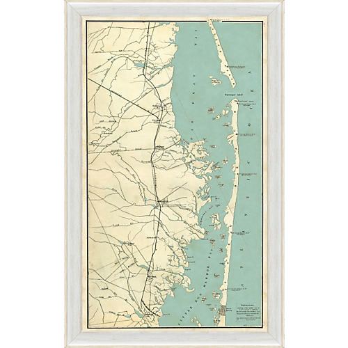 Map of Long Beach Island