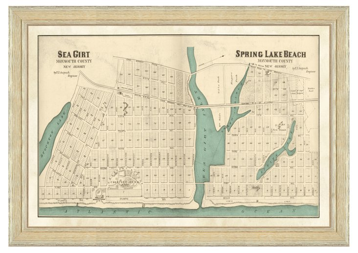 Sea Girt & Spring Lake Beach Map
