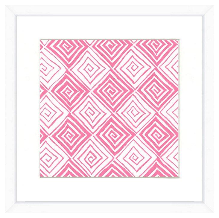 White Framed Pattern Print I