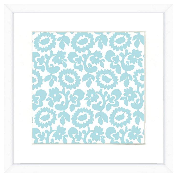 White Framed Pattern Print II