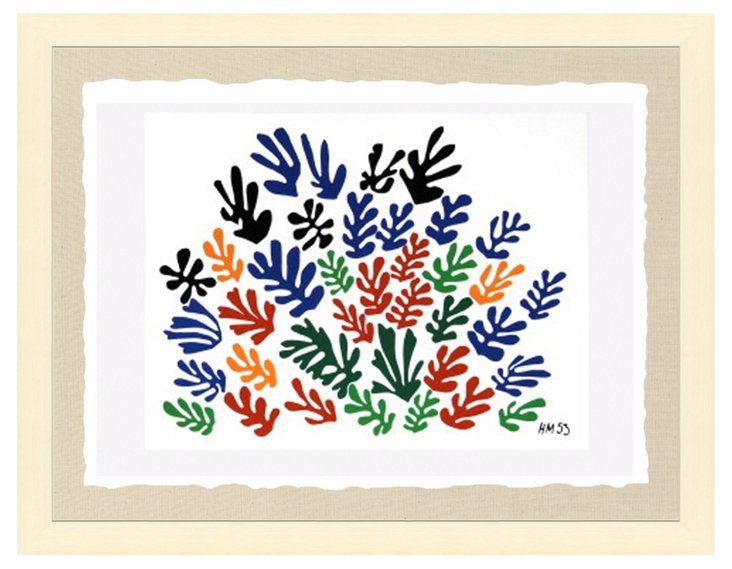 Cream Framed Matisse Print III
