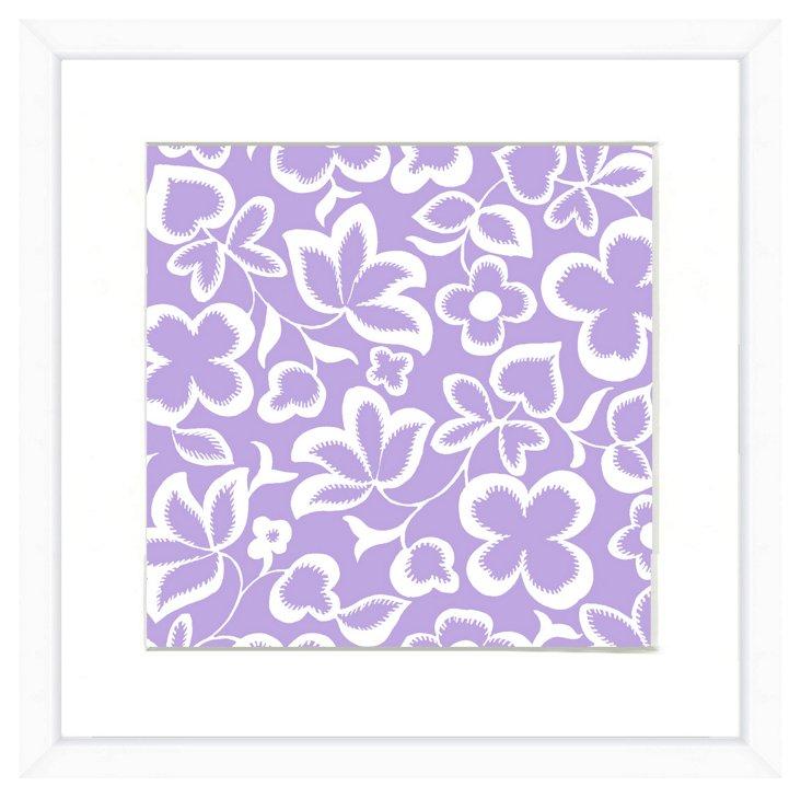 White Framed Pattern Print IV