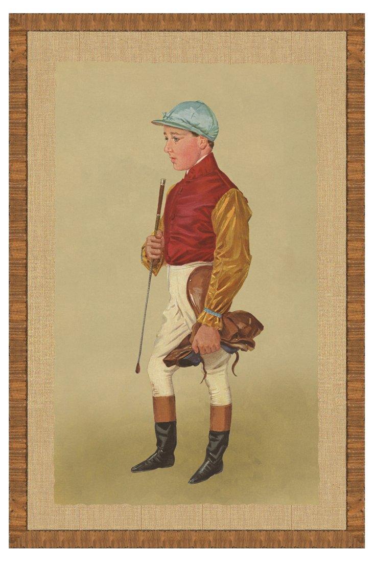 Wood Framed Jockey Print I