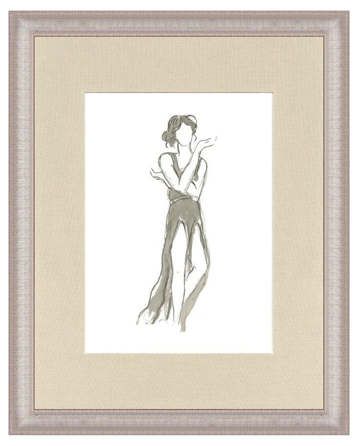 Silver Framed Dancer Print III