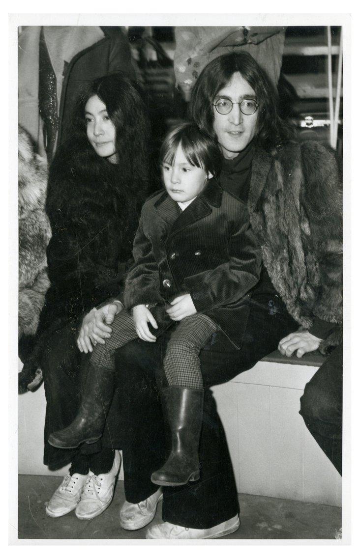 John Lennon, Julian Lennon & Yoko Ono