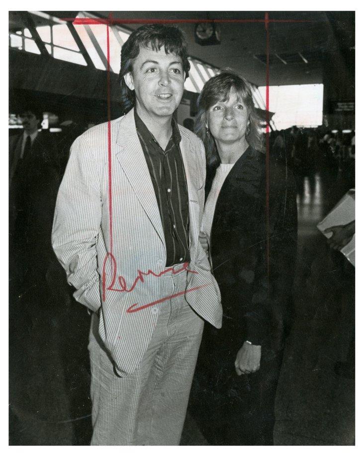 Paul & Linda McCartney 1983 Photo