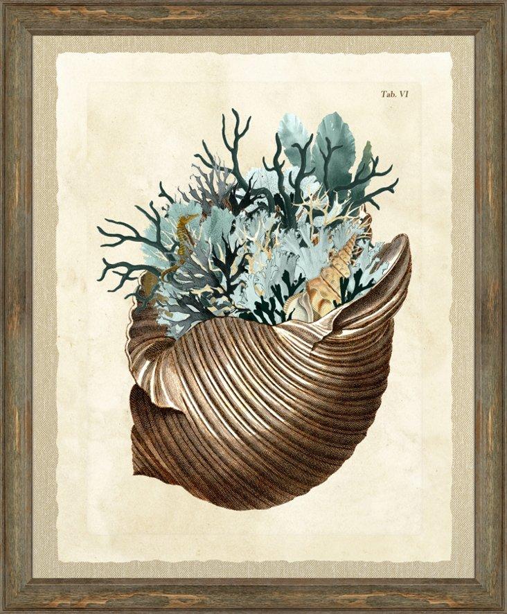 Teal Cornicopia Print I