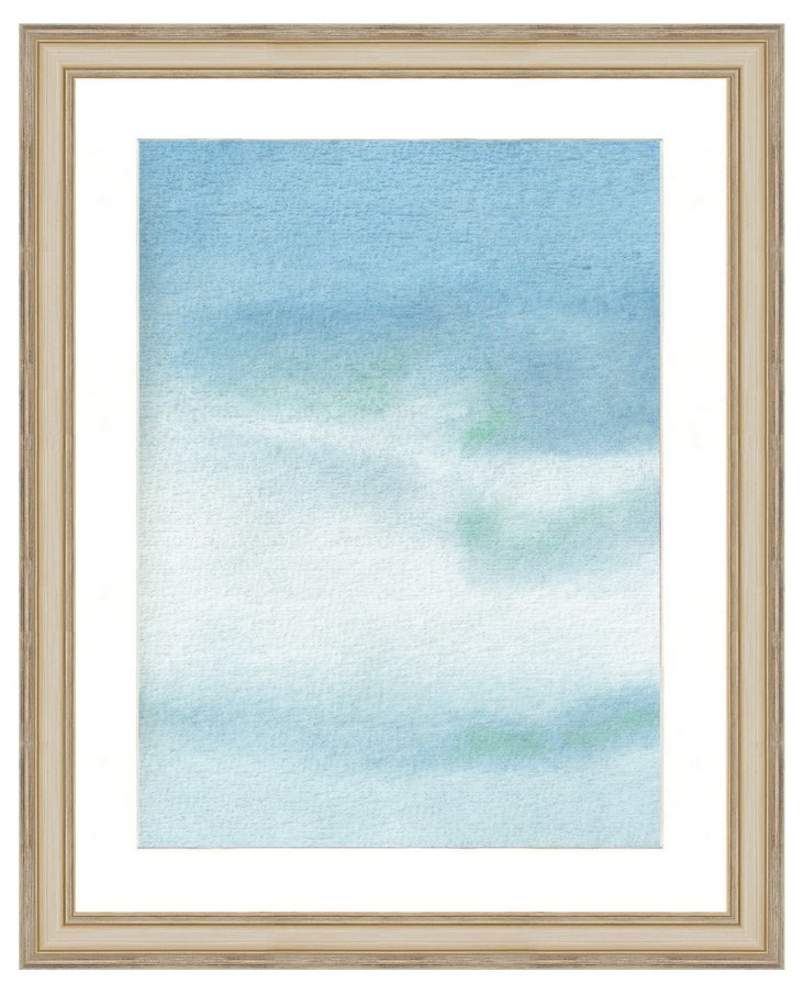 Blue Watercolor Print I