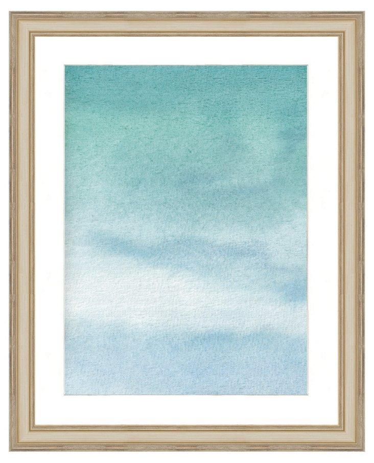 Blue Watercolor Print II