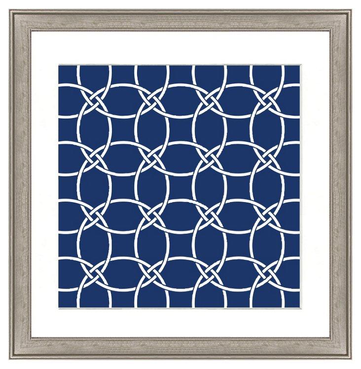 Navy Geometric Pattern I