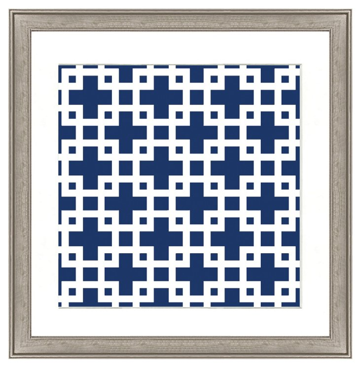 Navy Geometric Pattern II