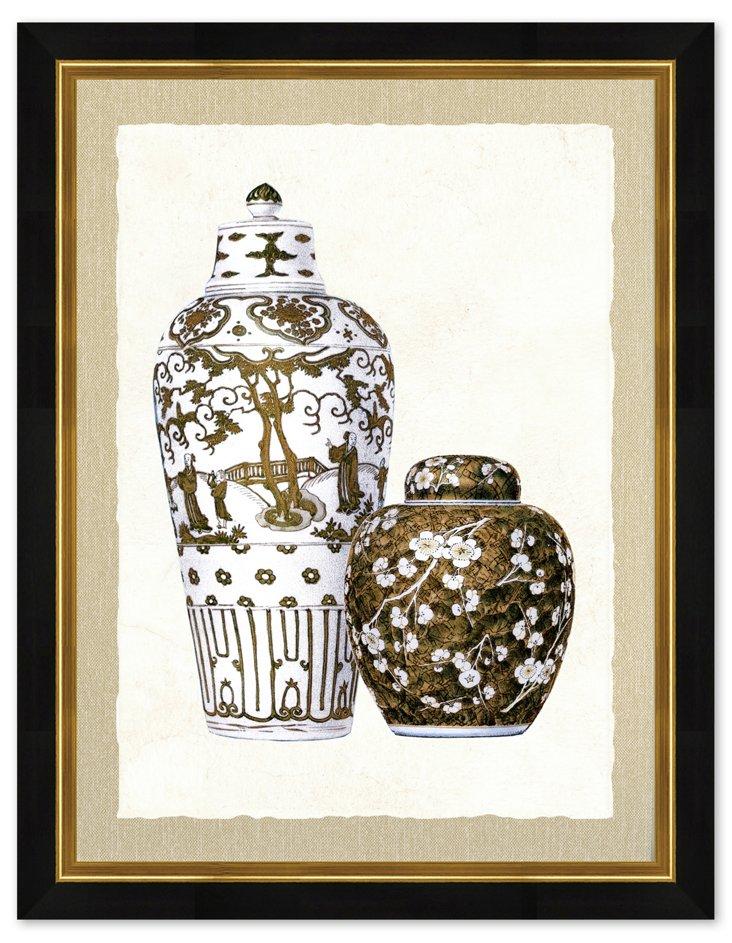 Sepia Vase Print I