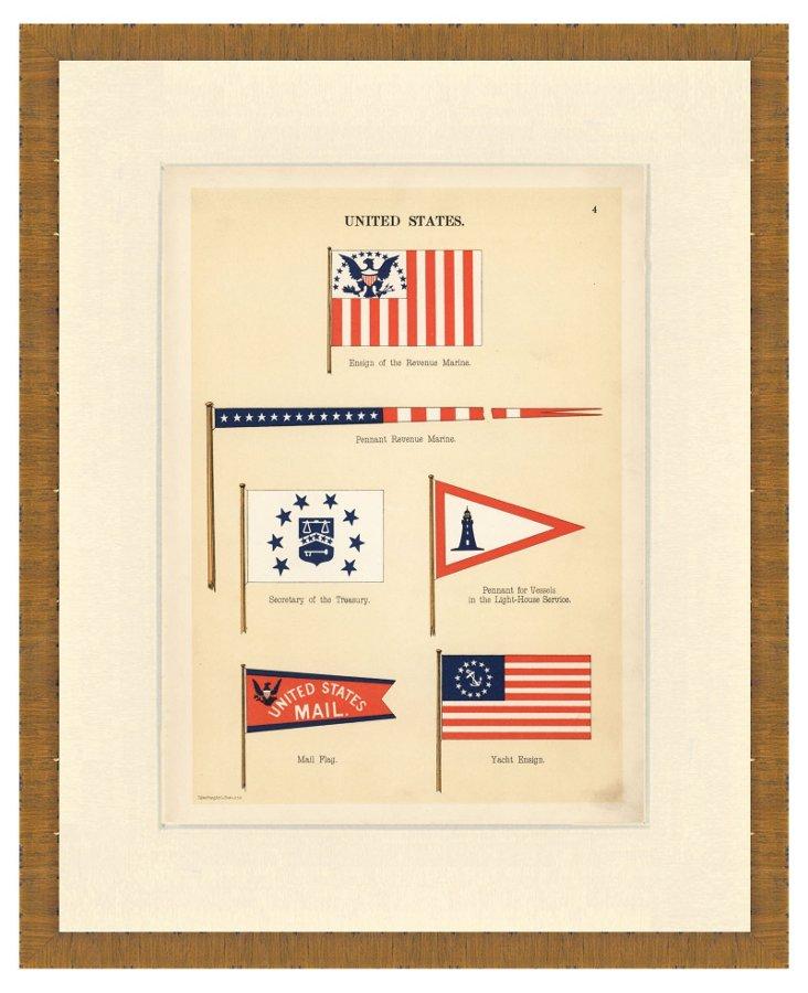 United States Naval Flag Print III