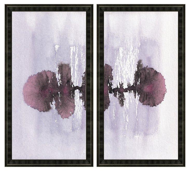 Watercolor Ink Blot Diptych
