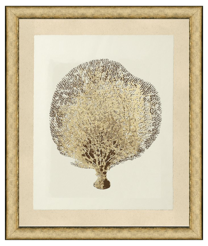 Sea Fan with Gold-Leaf II
