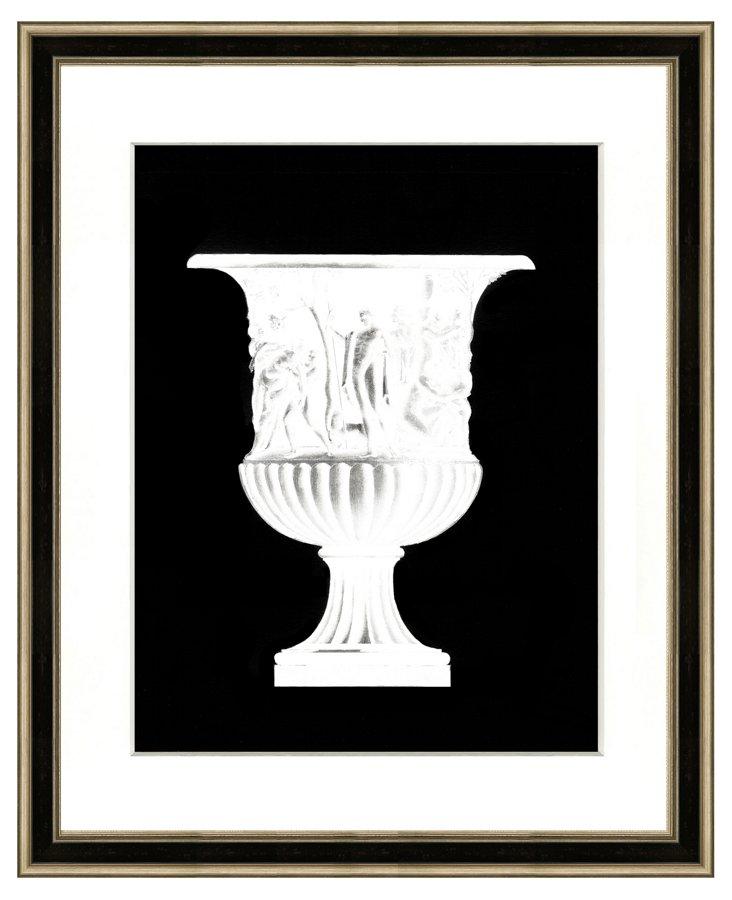 Black Vase Silhouette Print I
