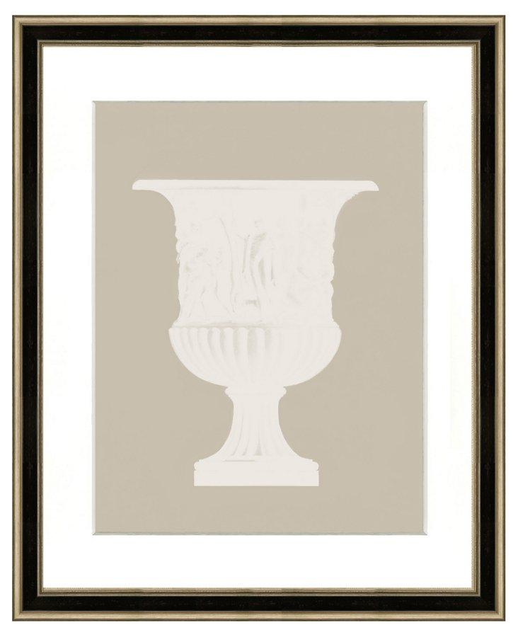 Mocha Vase Silhouette Print I