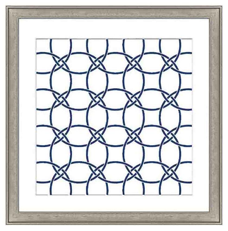 Navy Geometric Pattern II