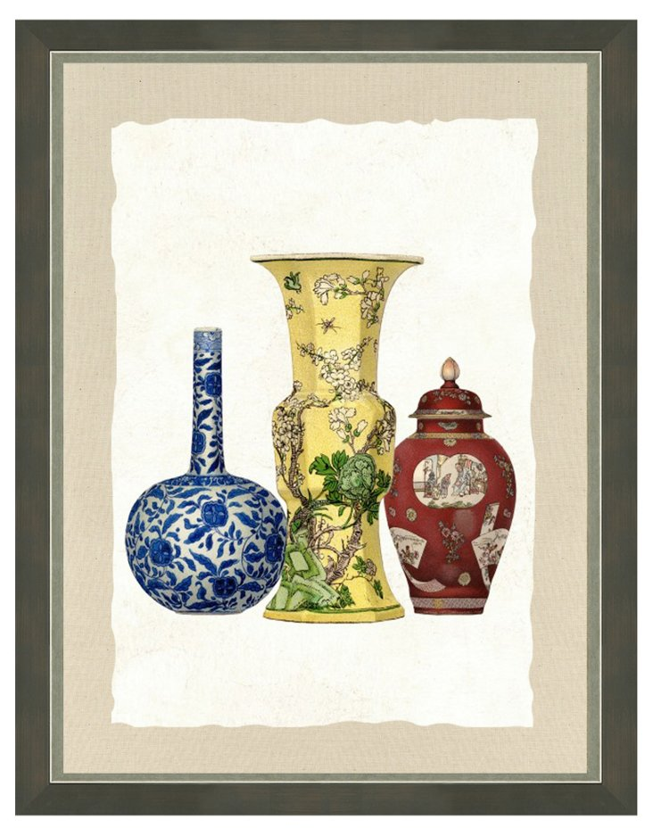Black Framed Vase Print