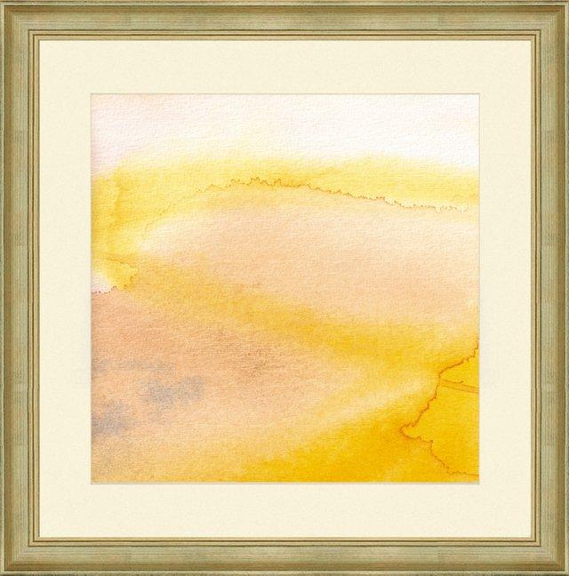 Watercolor Yellow Abstract Print I