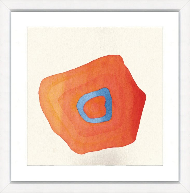 Teal and Orange Circle Abstract I