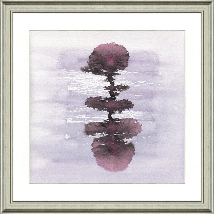 Purple Watercolor Ink Blot Print I