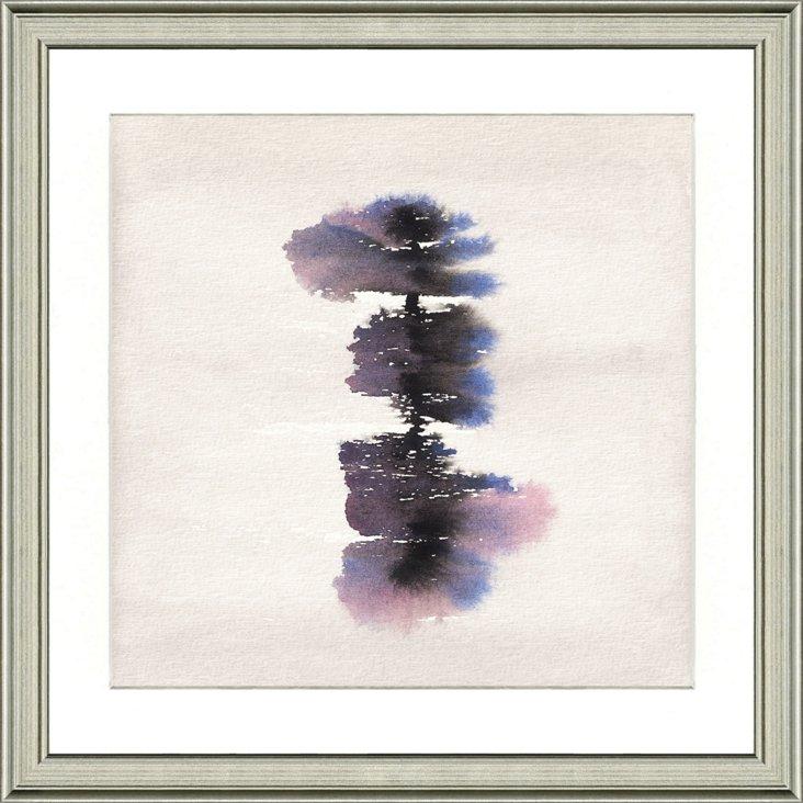 Purple Watercolor Ink Blot Print II