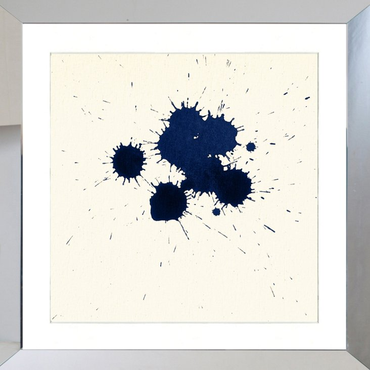 Navy Ink Blot I