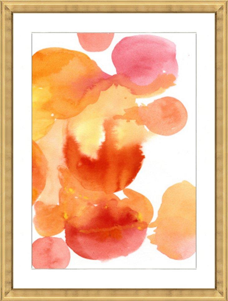 Watercolor Burst Print II