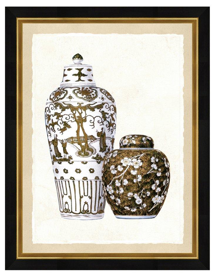 Sepia Vase I