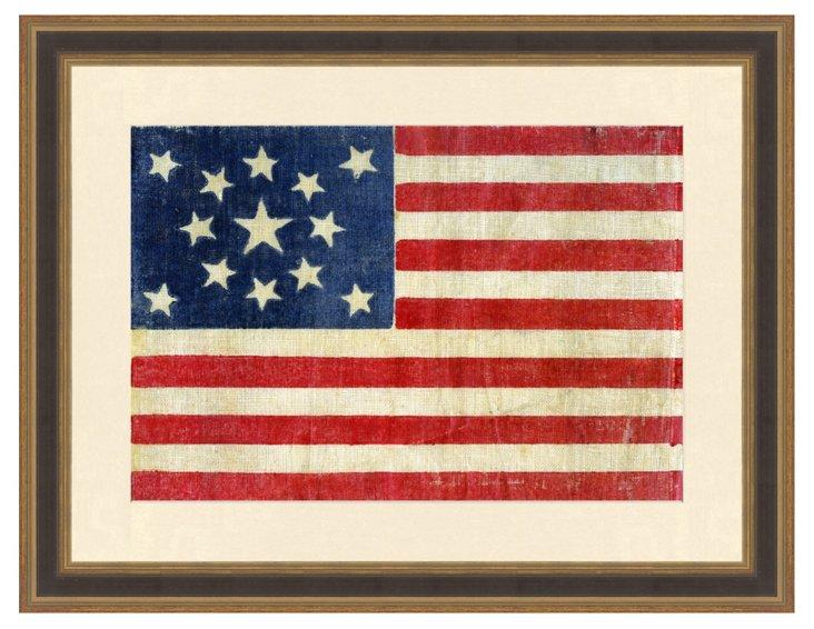 Centennial Thirteen Star American Flag