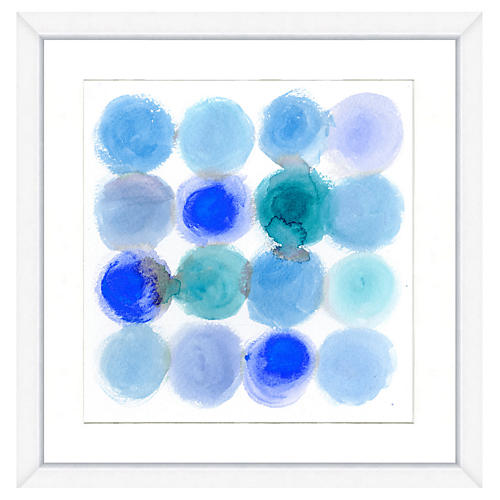 Blue Dots Print
