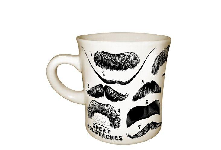 S/2 Moustache Mugs