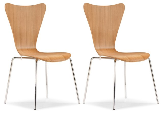 Natural Willis Dining Chairs, Set of 4