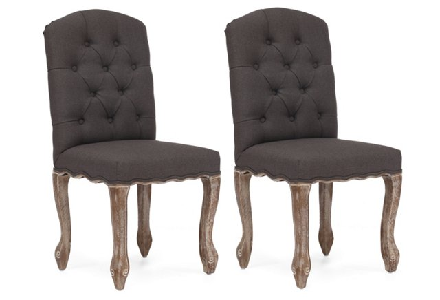 Charcoal Anderson Chairs, Pair