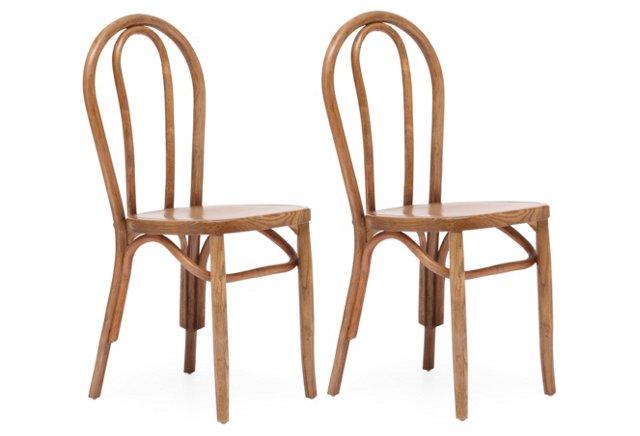 Natural Stewart Chairs, Pair