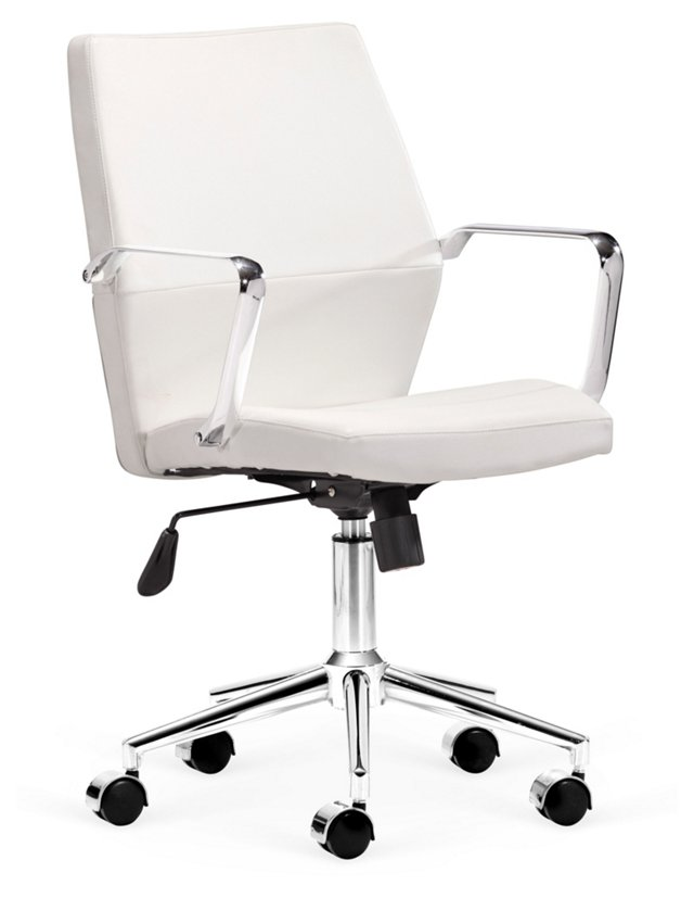 Caldwell Low-Back Office Chair, White