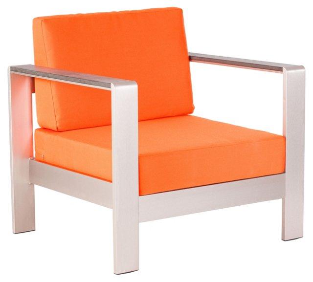 Cosmopolitan Armchair, Orange
