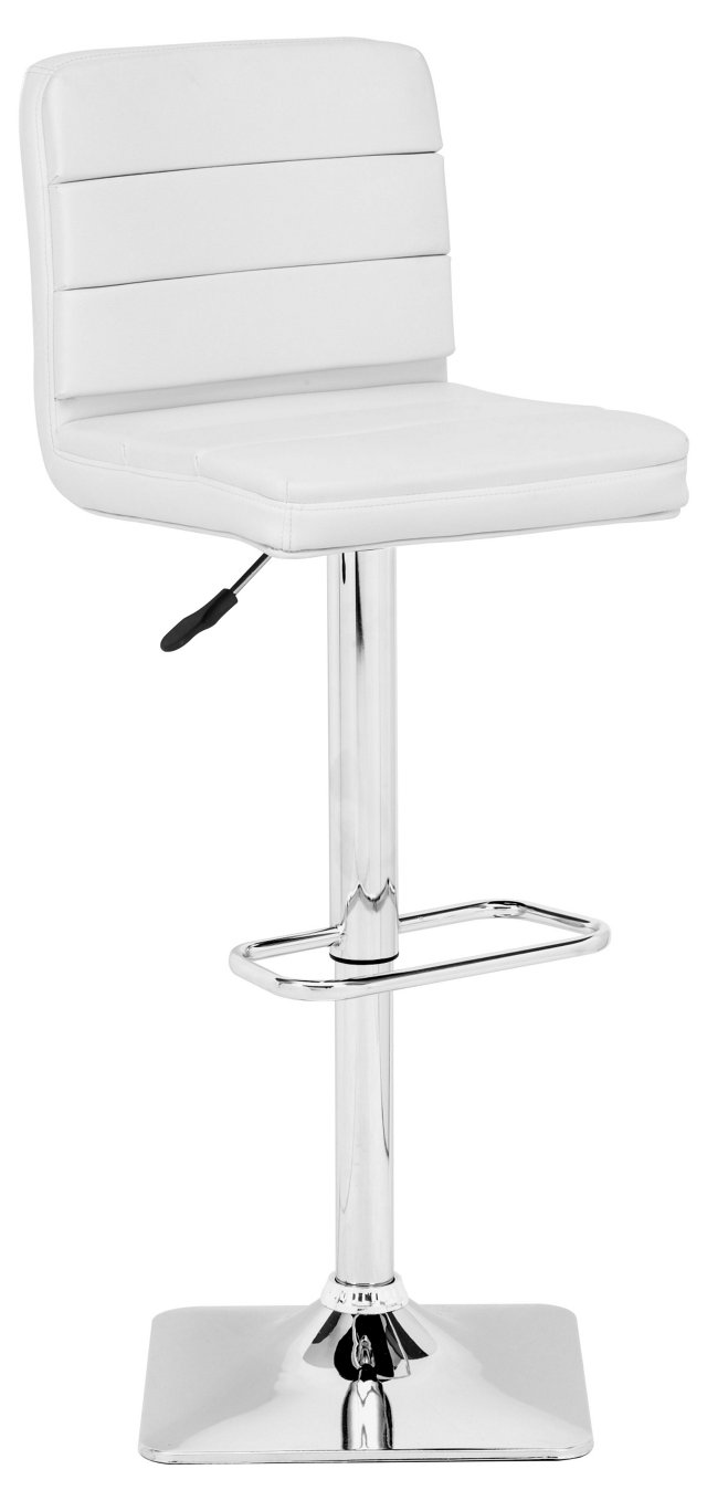 Jason Adjustable Barstool, White