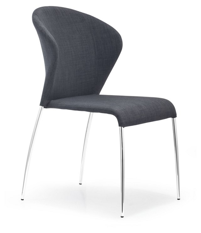 Graphite Oulu Chairs, Pair