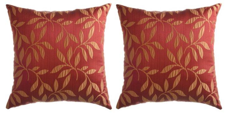 S/2 Molokai 18x18 Pillows, Sienna