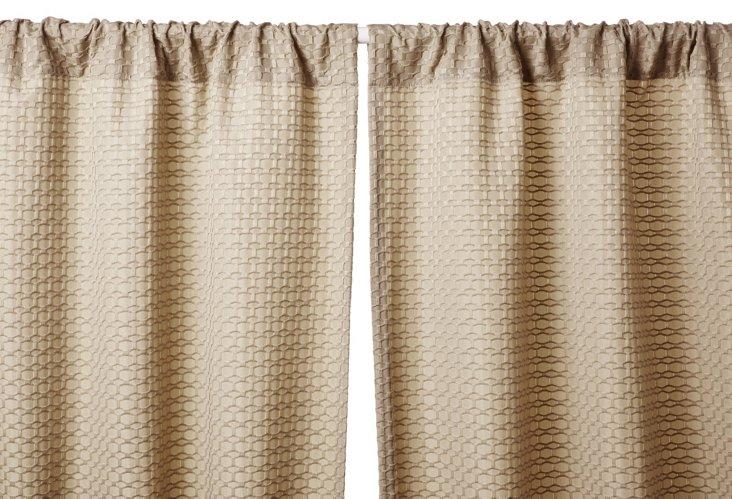 Dalton Curtain Panel, Champagne